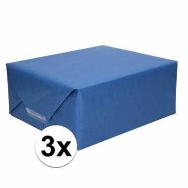 Goedkope x schoolboeken kaftpapier donkerblauw rollen
