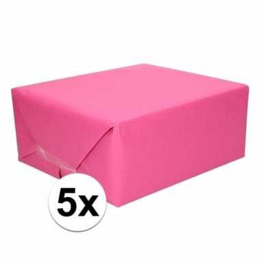 Goedkope x schoolboeken kaftpapier fuchsia roze rollen