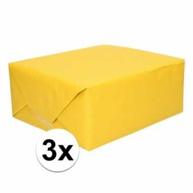 Goedkope x schoolboeken kaftpapier geel rollen