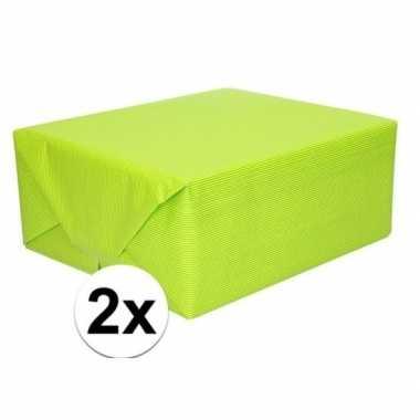 Goedkope x schoolboeken kaftpapier lime groen rollen