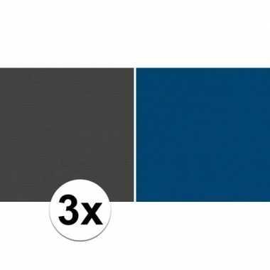 Goedkope x schoolboeken kaftpapier zwart blauw rollen