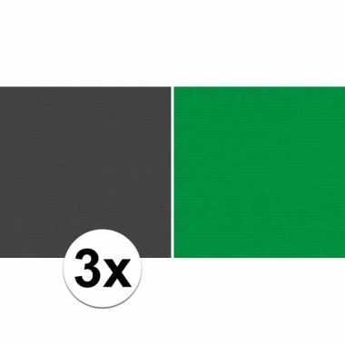 Goedkope x schoolboeken kaftpapier zwart groen rollen