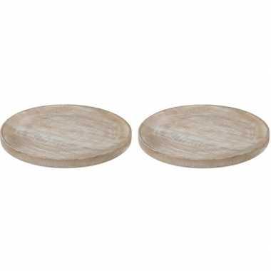 Goedkope x serveerborden/onderborden hout