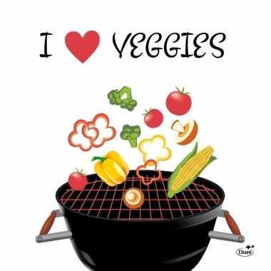 Goedkope x servetten bbq i love veggies