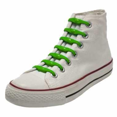 Goedkope x shoeps elastische veters groen kinderen/volwassenen