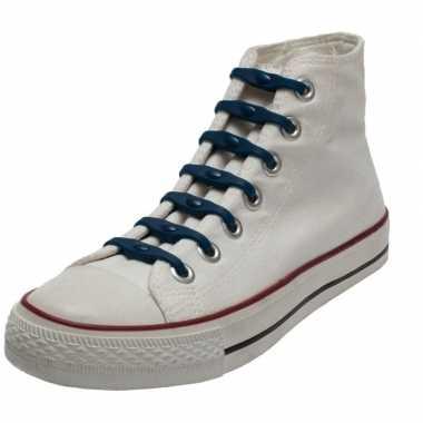 Goedkope x shoeps elastische veters navy kinderen/volwassenen