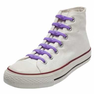 Goedkope x shoeps elastische veters paars kinderen/volwassenen