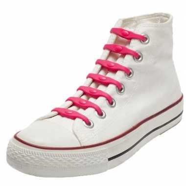 Goedkope x shoeps elastische veters roze kinderen/volwassenen