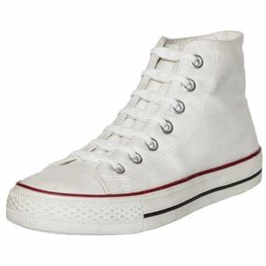 Goedkope x shoeps elastische veters wit/parel kinderen/volwassenen