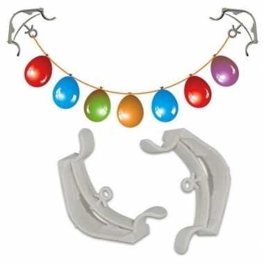 Goedkope x slingers/decoratie ophangen hoekklemmen wit