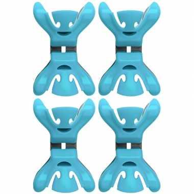 Goedkope x slingers/decoratie ophangen slingerklemmen blauw