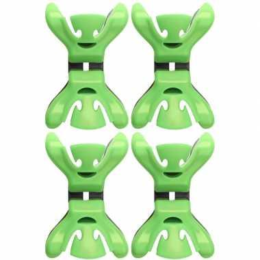 Goedkope x slingers/decoratie ophangen slingerklemmen groen