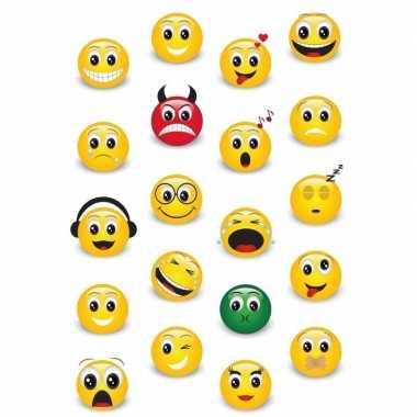 Goedkope x smiley/emoticons stickers d effect zacht kunststof