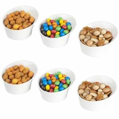 Goedkope x snack serveer schaaltjes ,