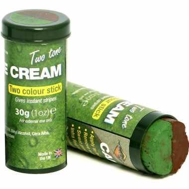 Goedkope x speelgoed bruine/groene camouflage schmink stiften kids