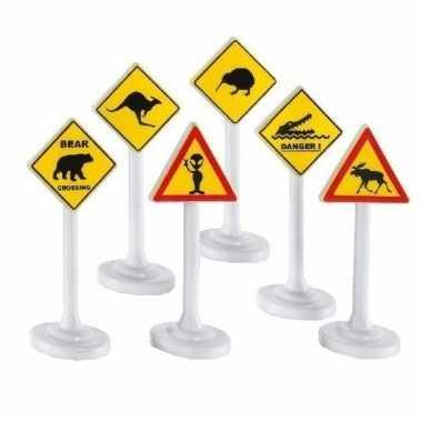 Goedkope x speelgoed waarschuwingsborden/verkeersborden