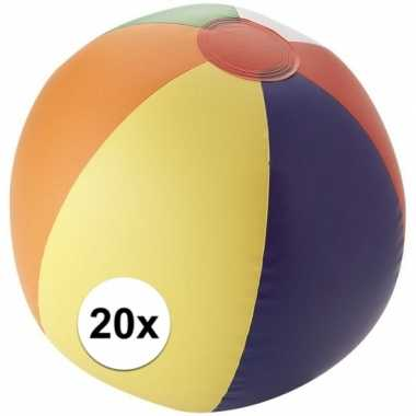 Goedkope x strandbal opblaasbaar multicolor