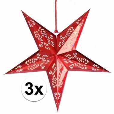 Goedkope x stuks decoratie sterren lampionnen rood