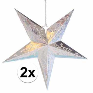 Goedkope x stuks decoratie sterren lampionnen zilver