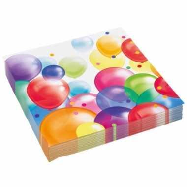 X stuks feest servetten ballonnen goedkope