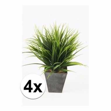 Goedkope x stuks grass bush kunstplanten zinken pot