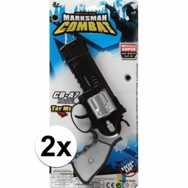 Goedkope x stuks politie/militair speelgoed pistolen