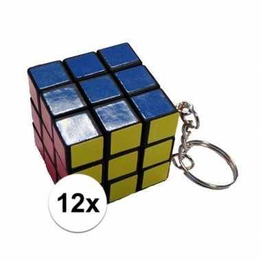 Goedkope x stuks sleutelhangers kubus spelletjes