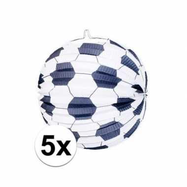 Goedkope x stuks voetbal thema versiering lampionnen