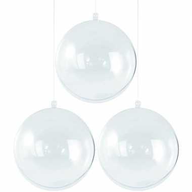 Goedkope x transparante hobby/diy kerstballen