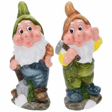 Goedkope x tuinkabouters mijnwerkers groen/bruin