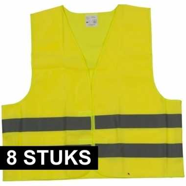 Goedkope x veiligheidsvest geel volwassenen