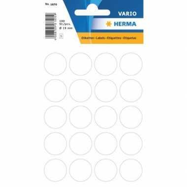 Goedkope x velletjes ronde sticker etiketten wit mm