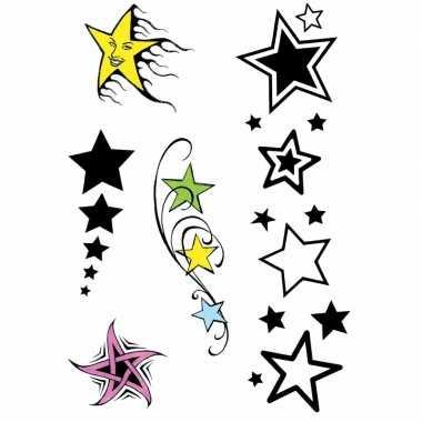 Goedkope x velltjes sterren tattoos stuks per vel