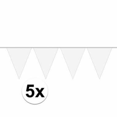 Goedkope x vlaggenlijnen wit meter