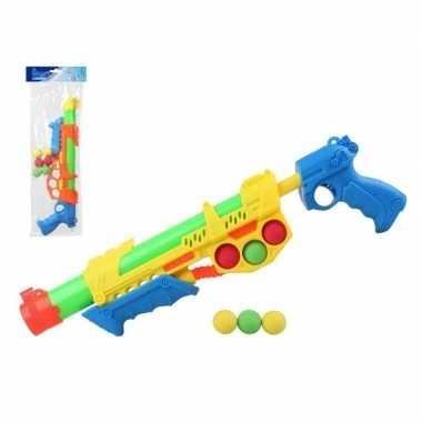 Goedkope x waterpistolen pomp ballen oranje/blauw