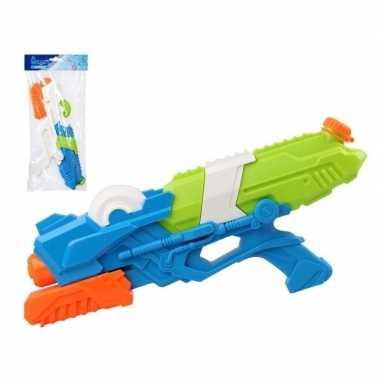 Goedkope x waterpistolen pomp wit/blauw