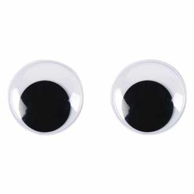 Goedkope x wiebel oogjes/googly eyes mm