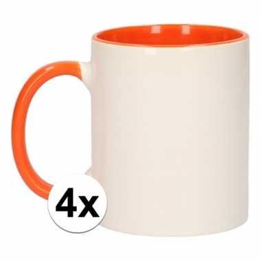 Goedkope x wit oranje blanco mok