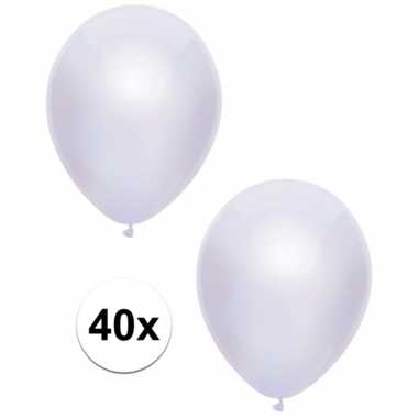 Goedkope x witte metallic ballonnen