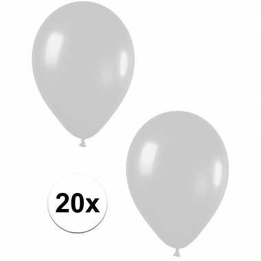 Goedkope x zilveren metallic ballonnen