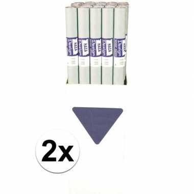 Goedkope x zilveren papieren tafelkleed rol