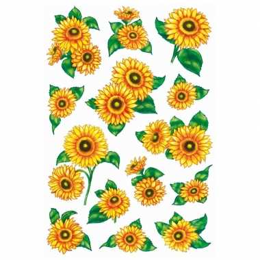 Goedkope x zonnebloemen stickers glitters