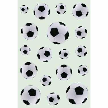 Goedkope x zwart/witte voetballen stickers