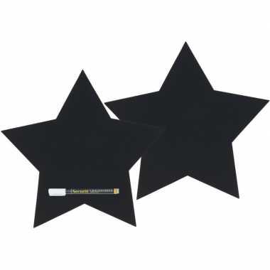 Goedkope x zwarte sterren krijtborden inclusief stift