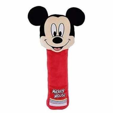 Goedkope xl pluche mickey mouse auto gordelhoes/gordelbeschermer
