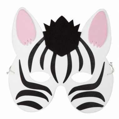 Goedkope zebra foam masker kinderen