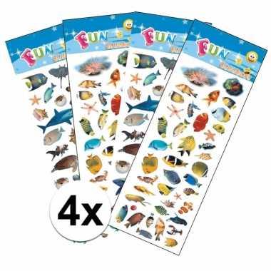 Goedkope zeedieren kinder stickers pakket