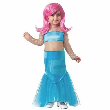Goedkope zeemeermin jurk pruik meisjes