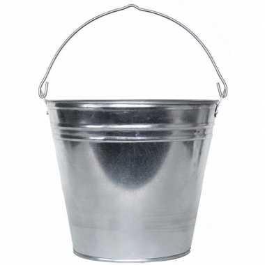 Goedkope zilveren emmer liter zink
