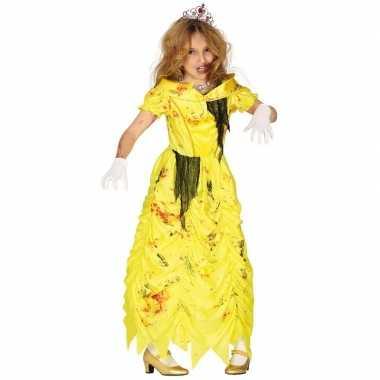 Goedkope zombie prinses belle verkleedkostuum meisjes prinsessenjurk